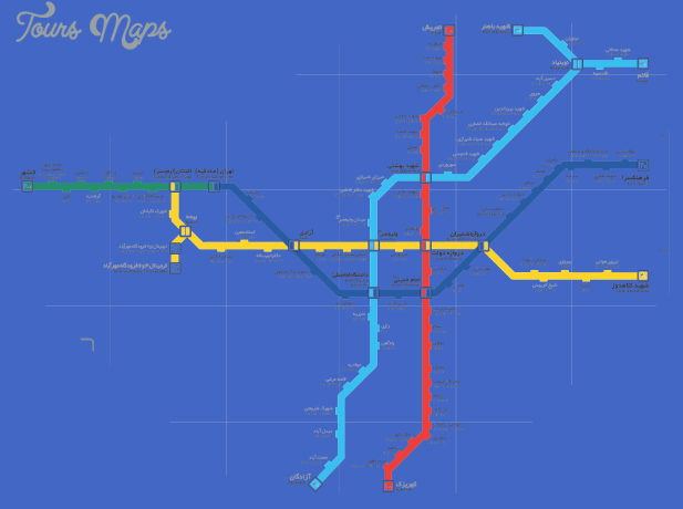 Tehran Subway Map.Tehran Subway Map Toursmaps Com