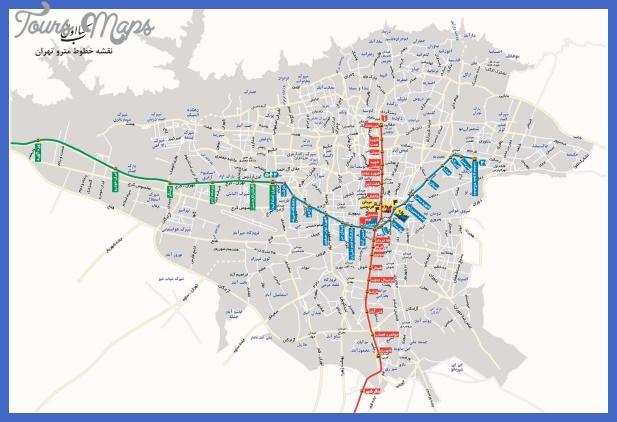 tehran subway map Tehran Subway Map