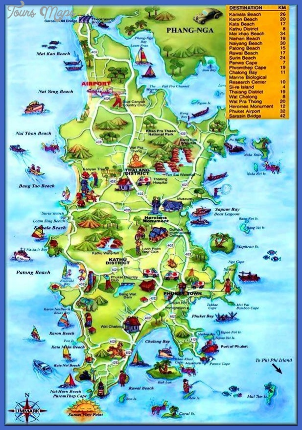 Thailand Map Tourist Attractions ToursMapsCom – Thailand Tourist Attractions Map