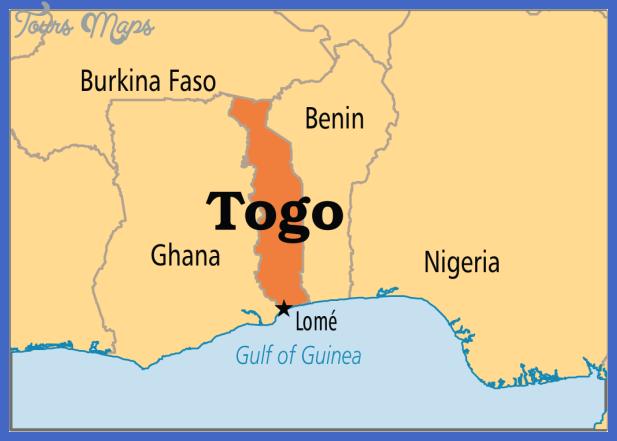 Togo Map ToursMapscom - Togo map outline