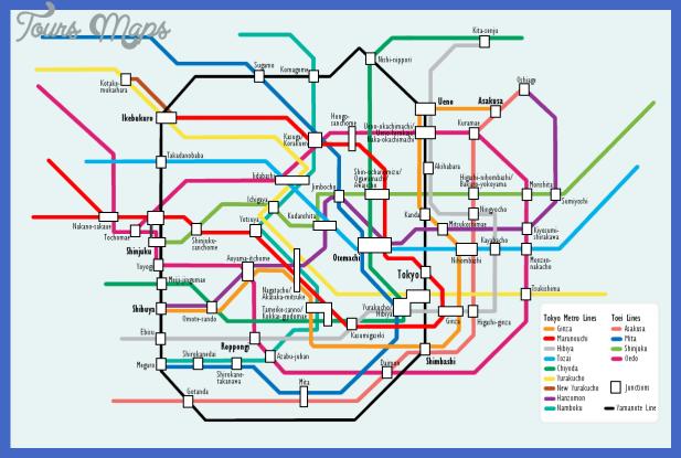 tokyo metro map  6 Tokyo Metro Map