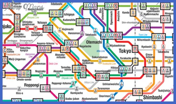 tokyo metro route map butterboom Tokyo Metro Map