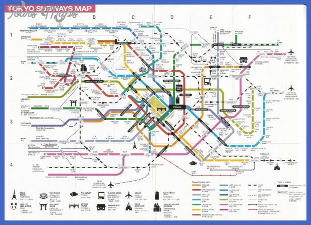 tokyo subway map 2 Monterey Map Tourist Attractions