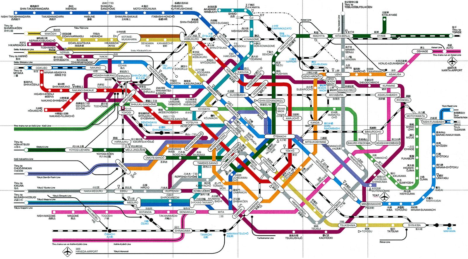 tokyo subway map Dallas Subway Map
