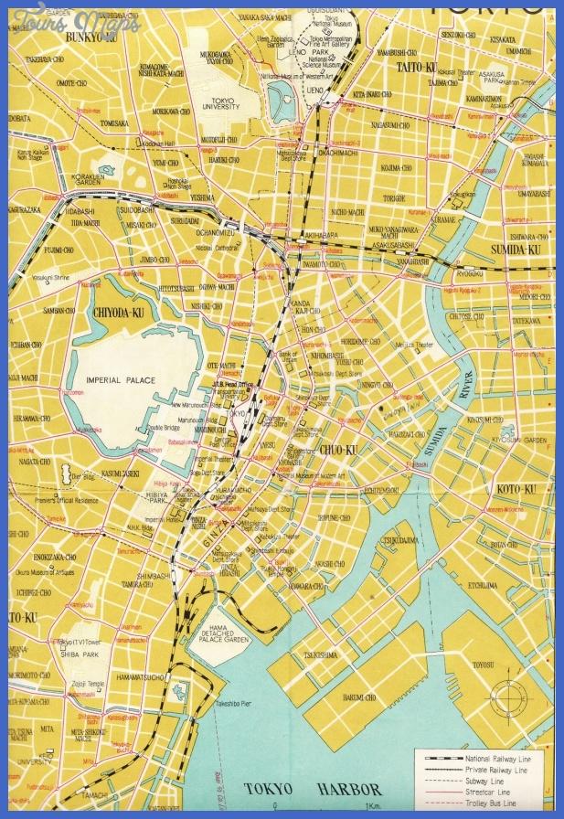 tokyo map road railway subway street trolley bus line Karachi Subway Map