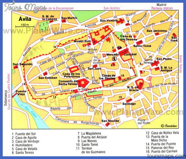 Toledo Map Tourist Attractions ToursMapscom