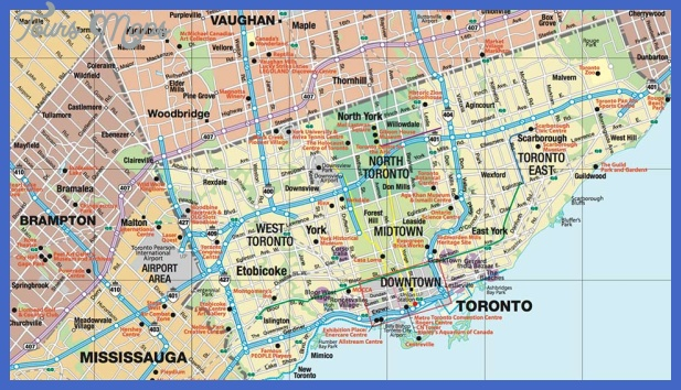 Toronto Map Tourist Attractions ToursMapsCom – Tourist Attractions Map In Toronto