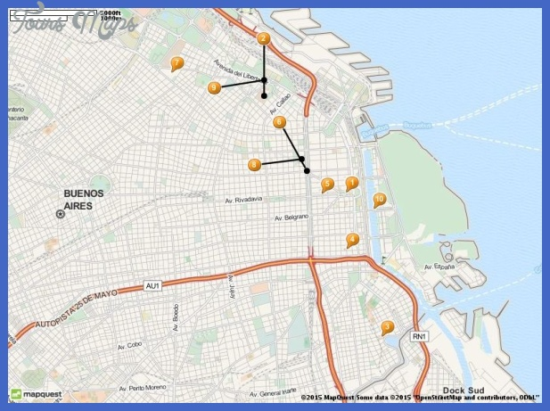 tourist attractions in buenos aires map Buenos Aires Map Tourist Attractions