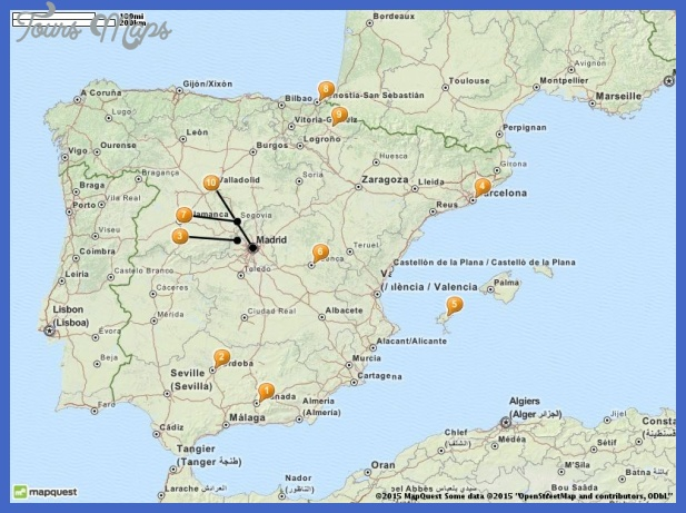 tourist attractions in spain map 1 Nagoya Map Tourist Attractions
