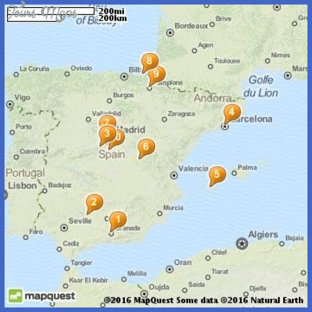 Spain Map Tourist Attractions ToursMapsCom – Spain Tourist Attractions Map