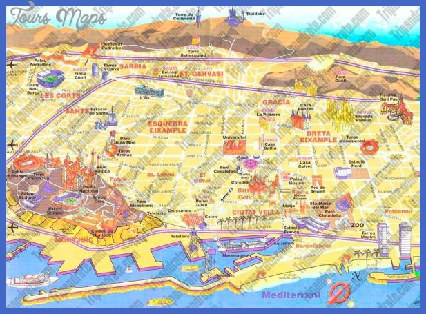 tourist map 1 Barcelona Map