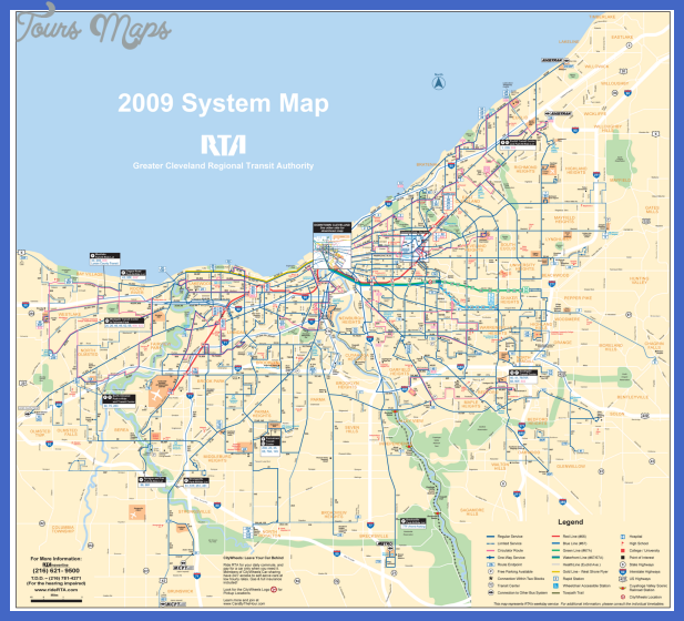 transportation map of cleveland Cleveland Map