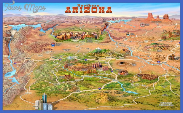 Tucson Map Tourist Attractions ToursMapscom