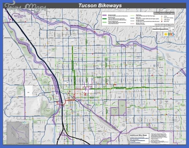 tucsonbikewaysmap Tucson Map