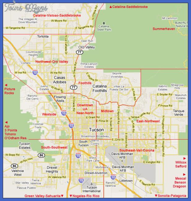 tucsonmap Tucson Map