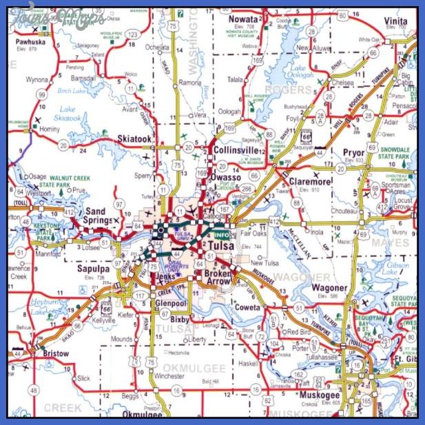 tulsametro Tulsa Metro Map