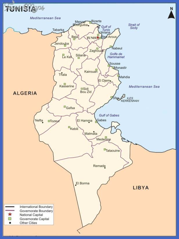 africa map tunisia - 28 images - political map of tunisia tunisia ...