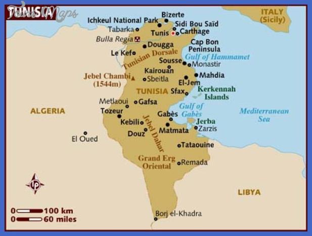 tunisia map  1 Tunisia Map