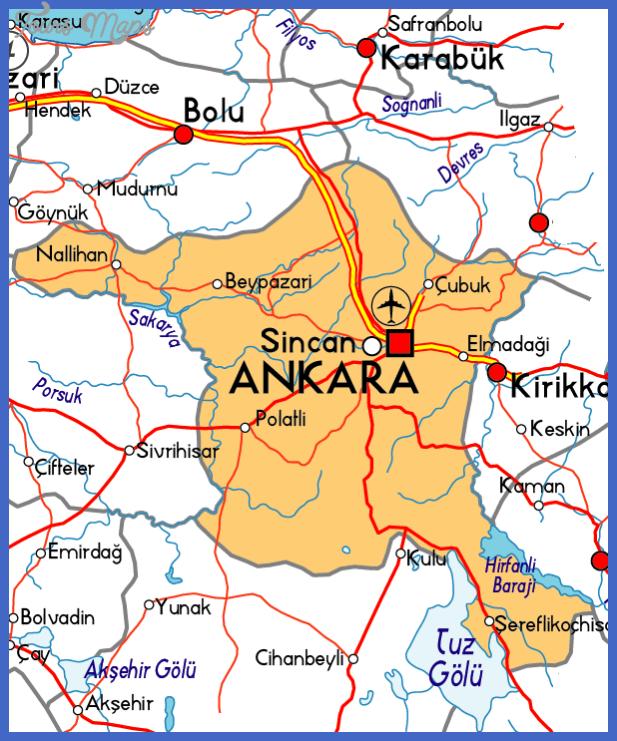 turkiye ankara harita Ankara Map