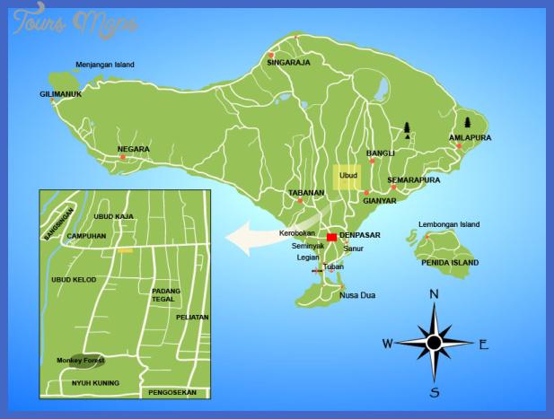 ubud map 103 Indonesia Metro Map