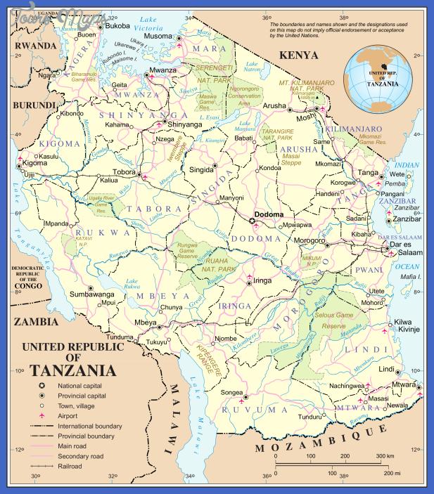 un tanzania Tanzania Metro Map