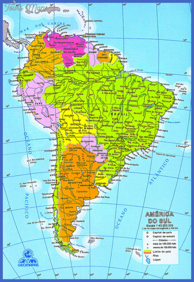 venezuela is located in south america between colombia Venezuela Map Tourist Attractions