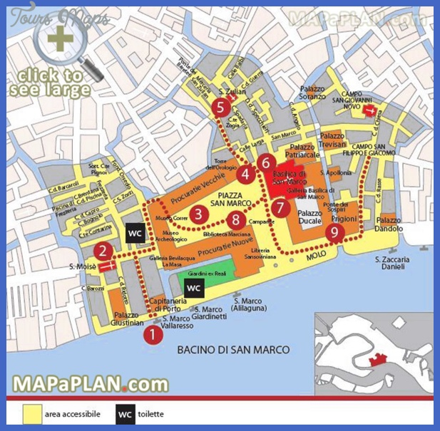 venice top tourist attractions map 05 marciana area st marks square piazza san marco palazzo ducale Santa Ana Map Tourist Attractions