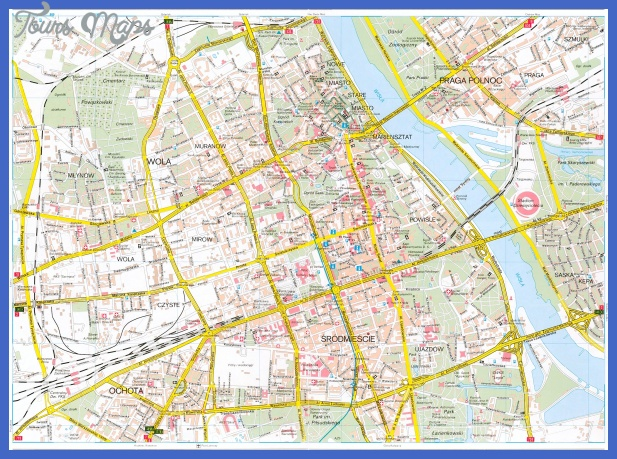 warsaw map tourist attractions  1 Warsaw Map Tourist Attractions