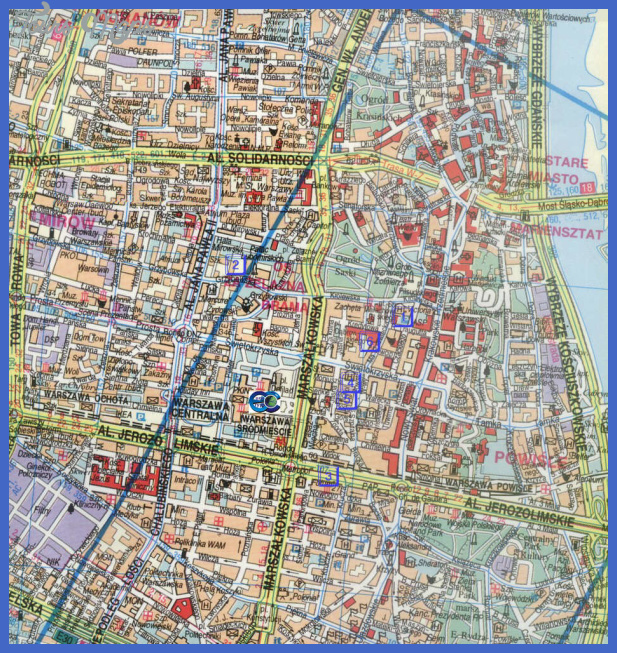 warsaw poland tourist map Warsaw Map Tourist Attractions