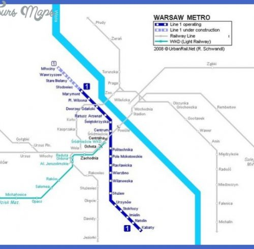 Warsaw Metro Map Pdf Archives Map Travel Holiday Vacations - Sweden metro map pdf