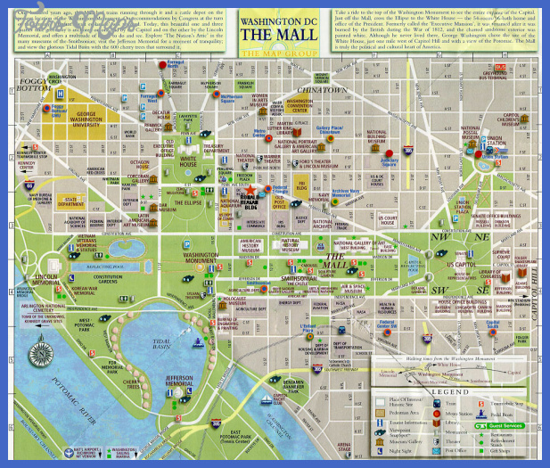 washington dc map Winston Salem city Map Tourist Attractions