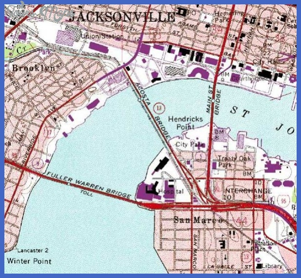 wg jacksonville 1 7 Jacksonville Map Tourist Attractions