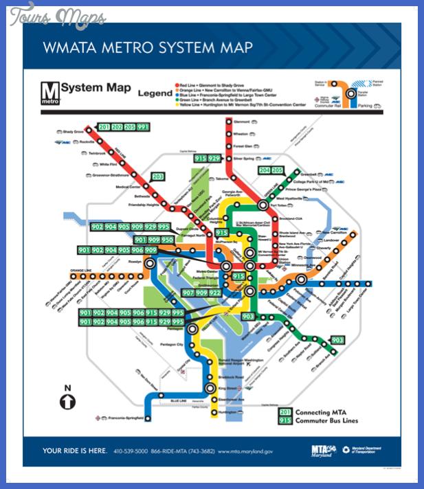 wmata metro system map Baltimore Metro Map