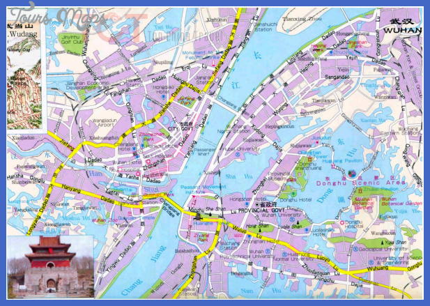 wuhan map tourist attractions  0 Wuhan Map Tourist Attractions