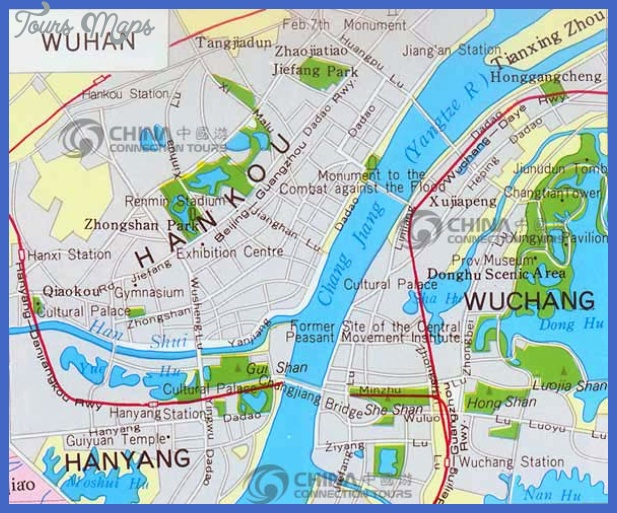 Wuhan Map Tourist Attractions Toursmaps Com