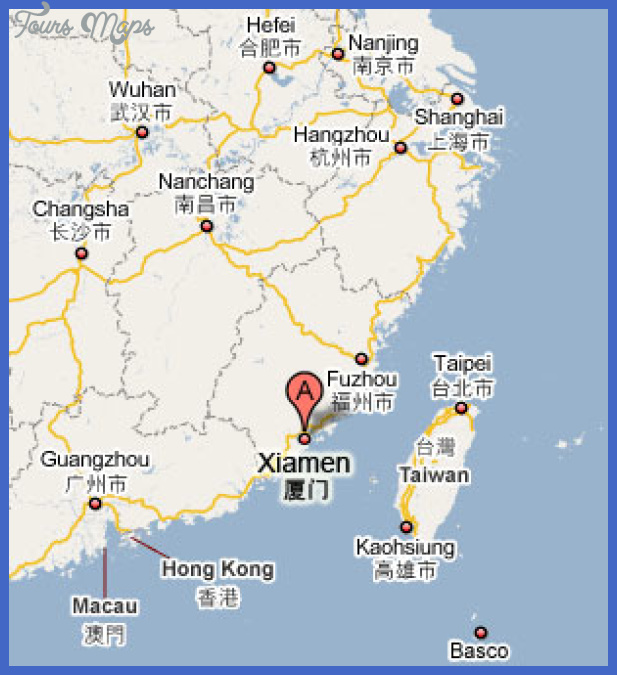 xiamen map small Garland Map Tourist Attractions