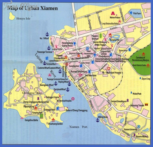 xiamen map tourist attractions  0 Xiamen Map Tourist Attractions