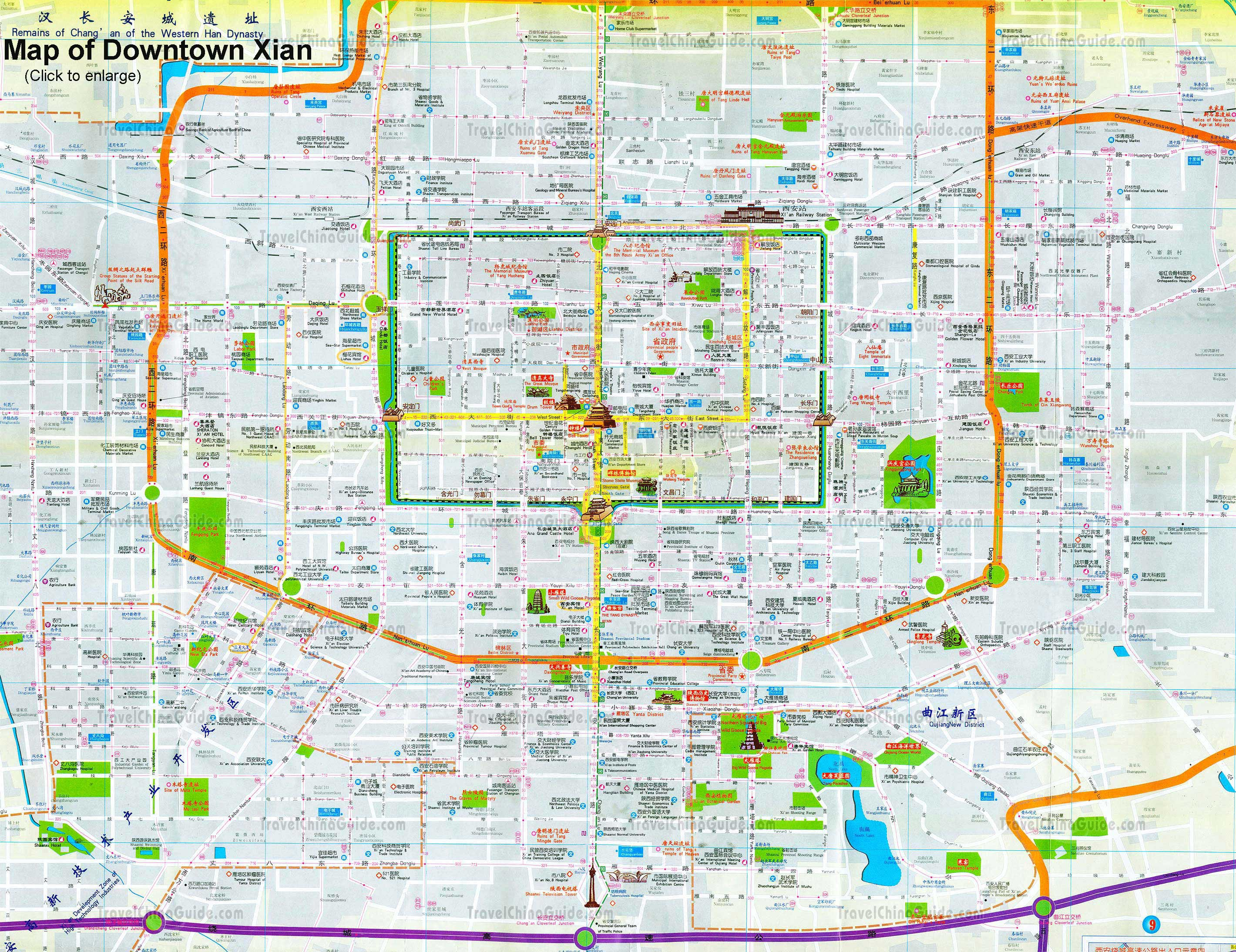 xian map tourist attractions  5 Xian Map Tourist Attractions
