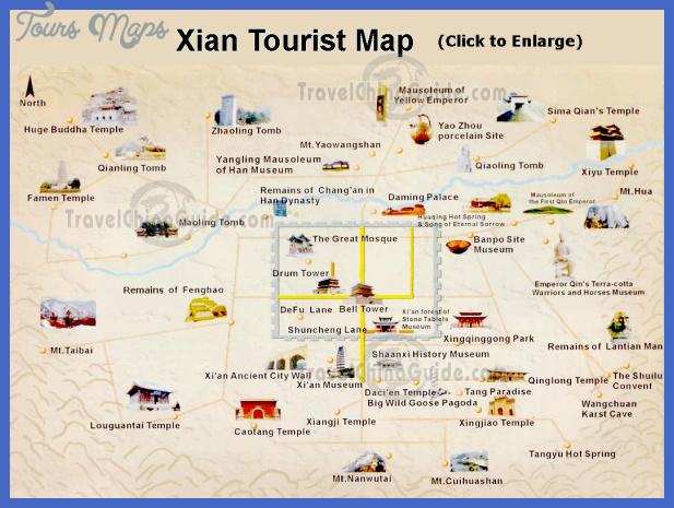 xian tourist Pakistan Map Tourist Attractions