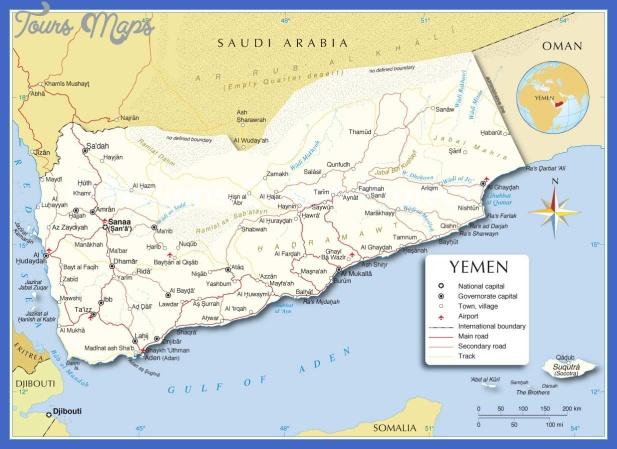 yemen map Yemen Map
