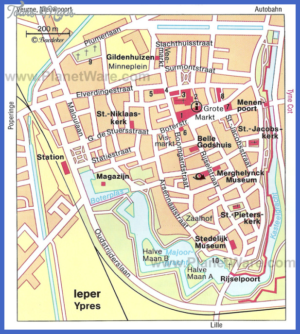 ypres map Belgium Map Tourist Attractions