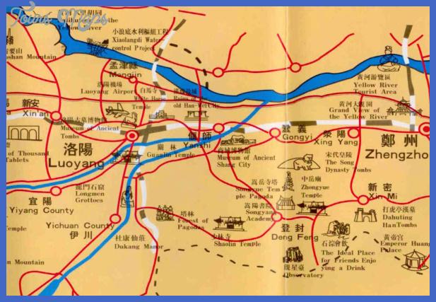 zhengzhou map tourist attractions  19 Zhengzhou Map Tourist Attractions