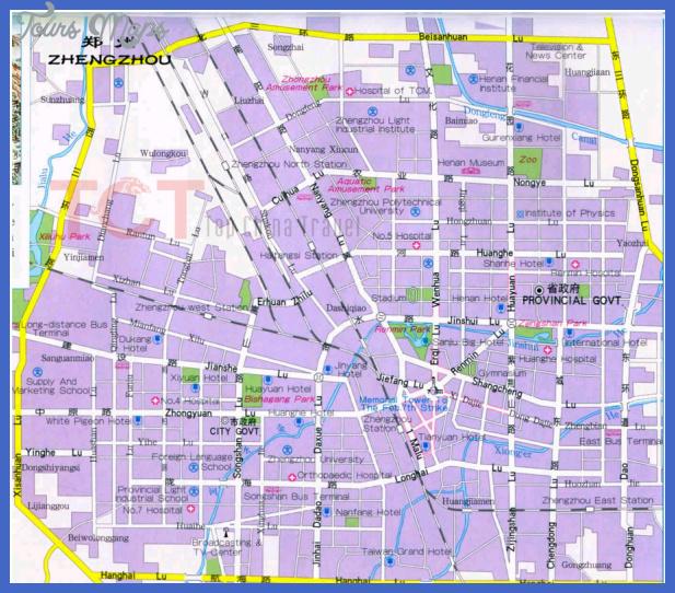 zhengzhou map tourist attractions  3 Zhengzhou Map Tourist Attractions