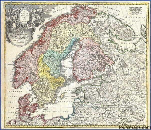 1730 homann map of scandinavia norway sweden denmark finland and the baltics   geographicus   scandinavia homann 1730 Scandinavia Map