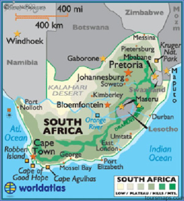 africa map THE REPUBLIC OF SOUTH AFRICA