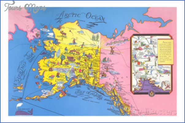 Alaska Map Tourist Attractions ToursMapsCom – Alaska Tourist Attractions Map