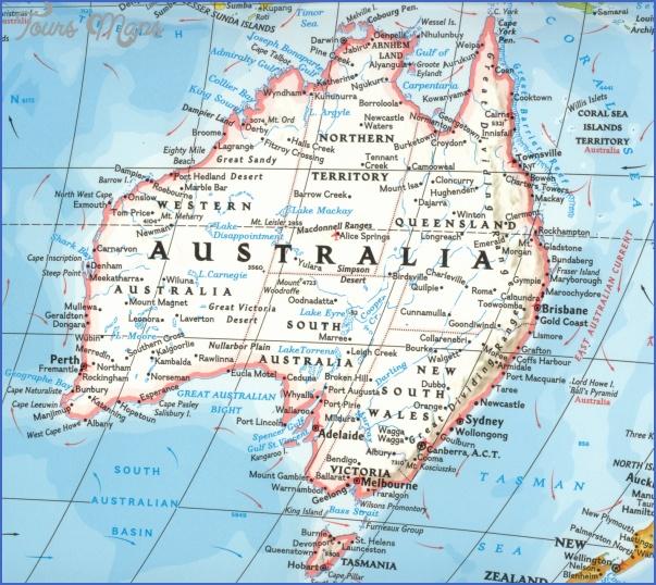 australia map23 Australia Map