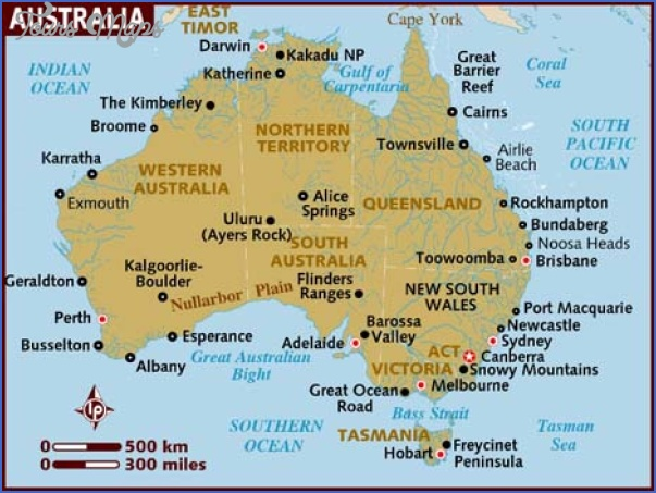 australia map Australia Map Tourist Attractions