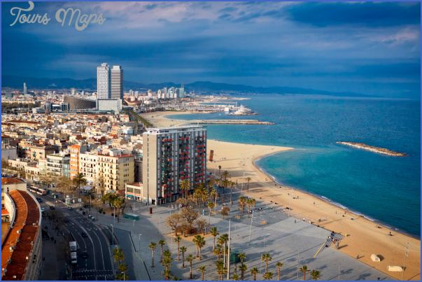 barcelona beach spain SPAIN