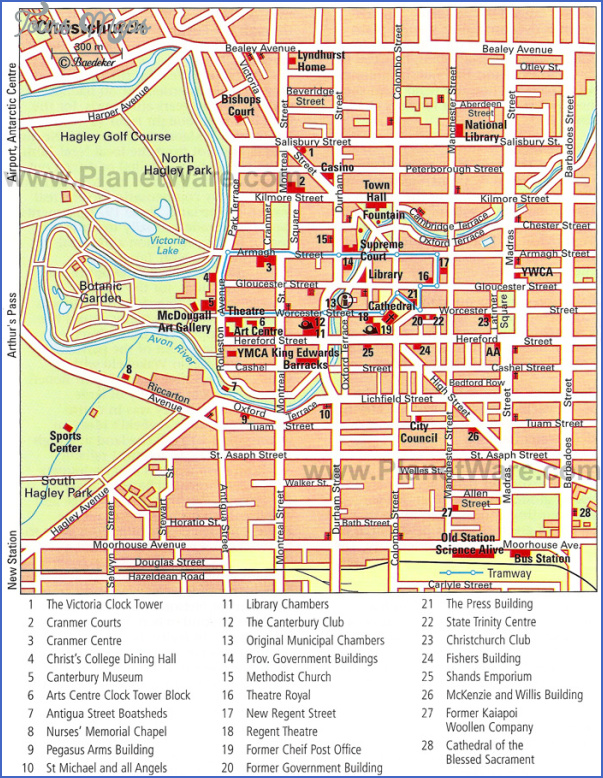 christchurch map New Zealand Map Tourist Attractions